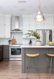 modern two tone kitchen